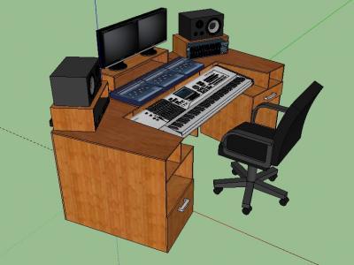 Escritorio ideal para tu home studio equipo home studio - Muebles para estudio de grabacion ...