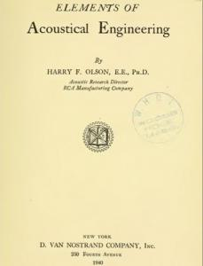 09 Elements of Acoustical engineering - H Olson.jpg
