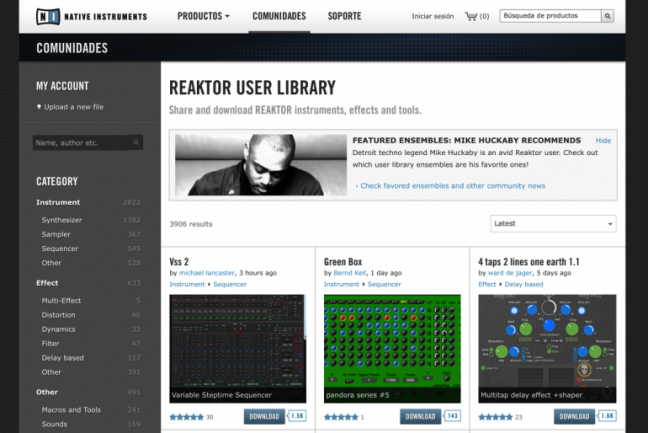 User Library de Reaktor