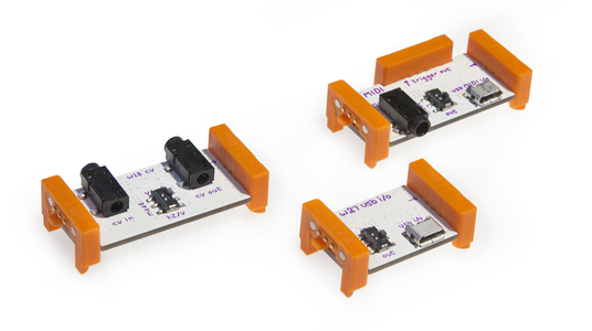 Módulos Korg littleBits MIDI, CV y USB audio
