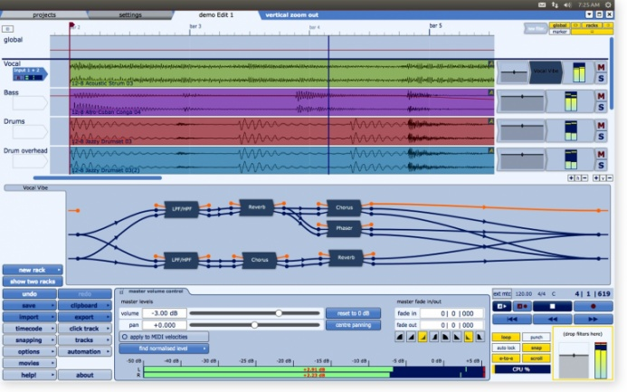 Tracktion 4 para Linux