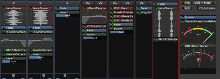 Display de plugins inline en Ardour 5