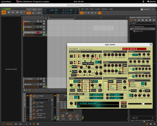 VST con wrapper en Linux