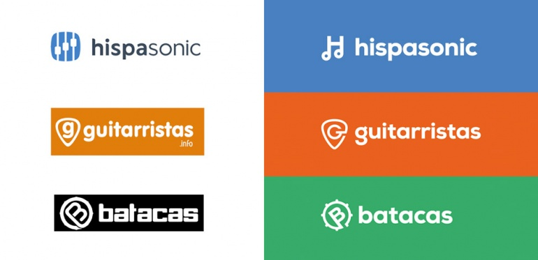 Familia de logos Hispasonic