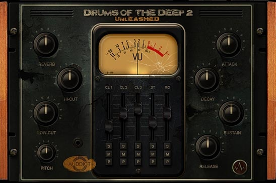 Interfaz de Drums of the Deep
