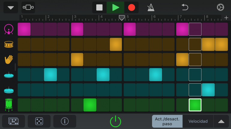 Garageband Beat Sequencer
