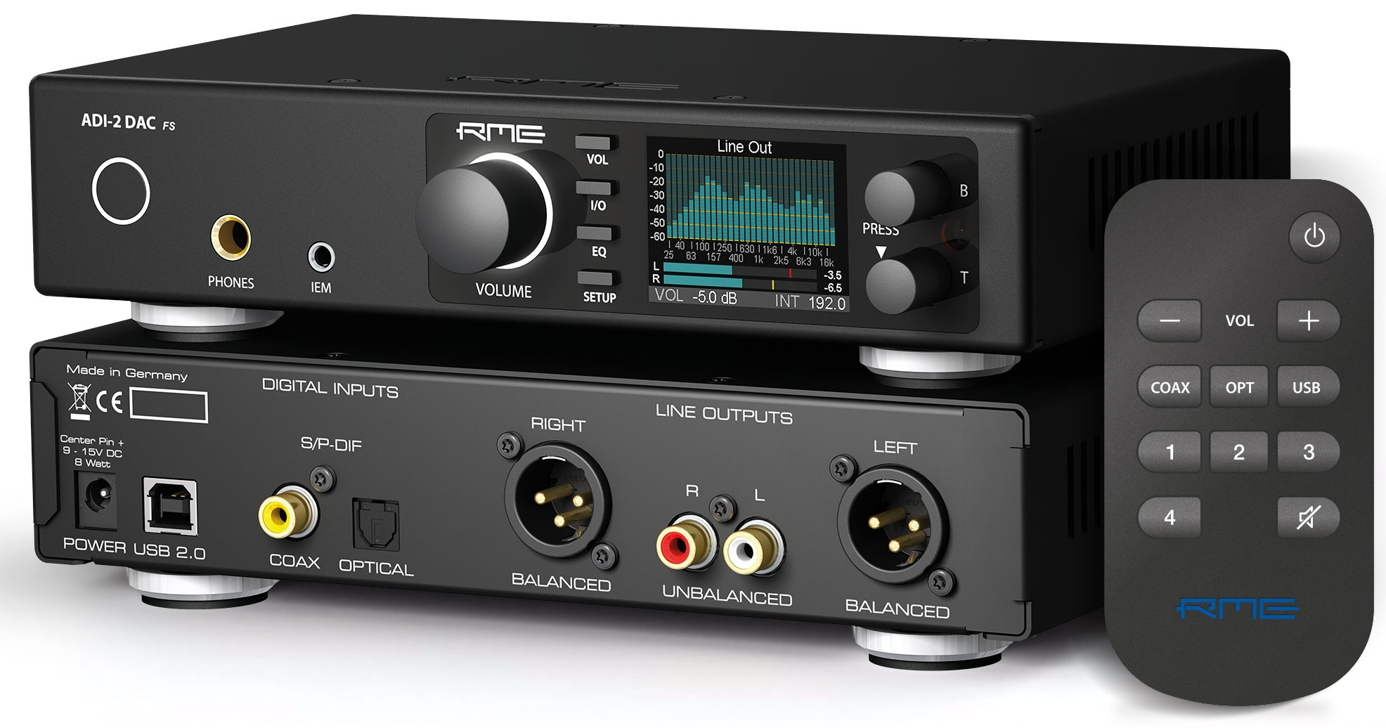 RME ADI-2 DAC, 768 kHz y DSD para uso doméstico.