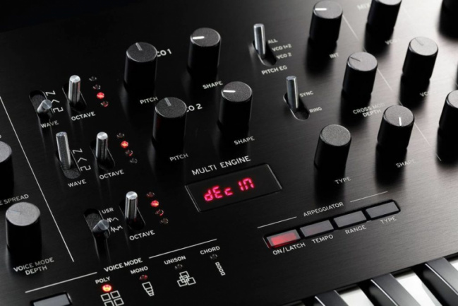 Korg Prologue, detalle del panel
