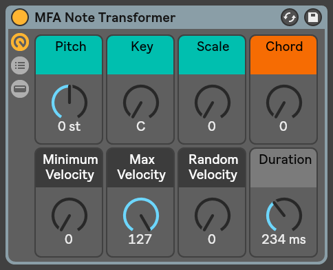 MFA Note Transformer para Ableton