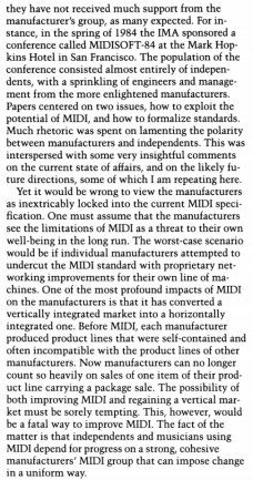 The MIDI Phenomenon Author(s): Gareth Loy Source: Computer Music Journal, Vol. 9, No. 4 (Winter, 1985), pp. 8-2