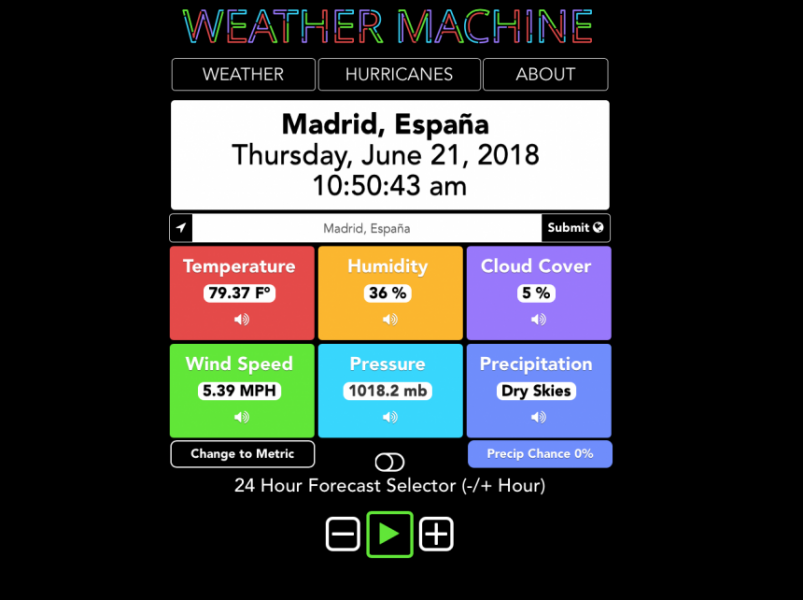 Weather Machine Info