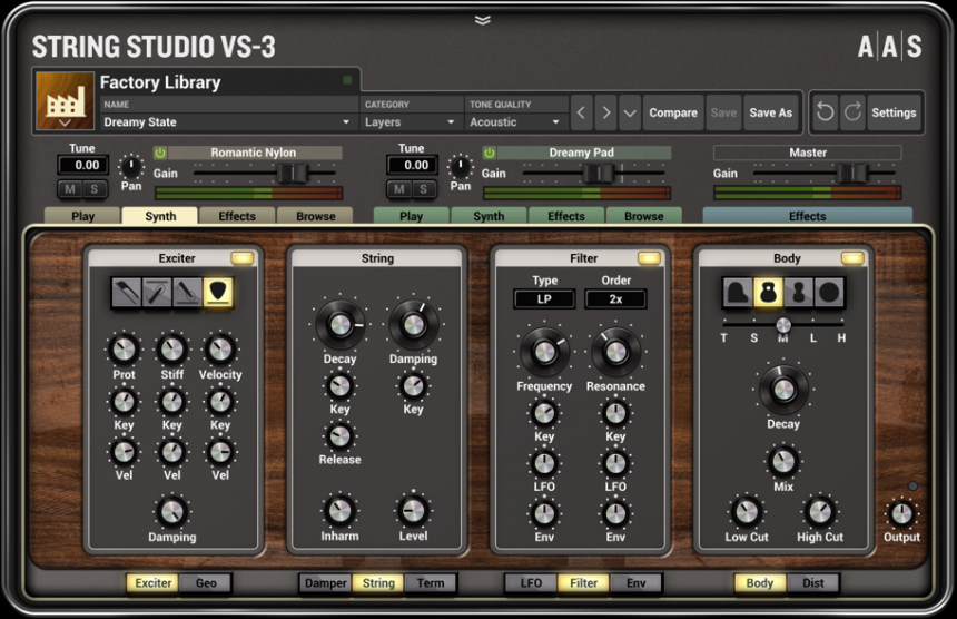 String Studio VS-3 sinte