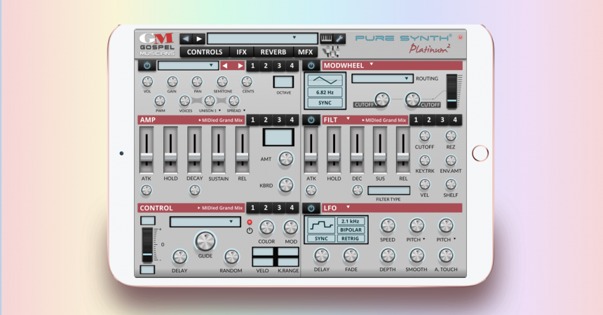 Pure Synth Platinum de Gospel Musicians llega al iPad