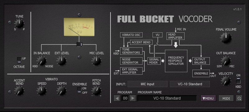 Full Bucket FBVC Vocoder
