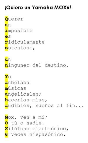 MOX6 en poesía