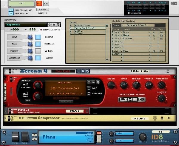 Mix Track con ID8 y FX inserto