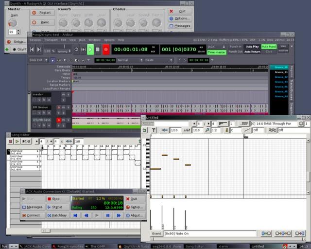 ardour seq24 jack audio midi