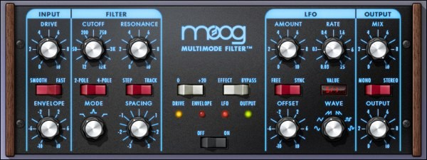 UAD Moog Multimode Filter
