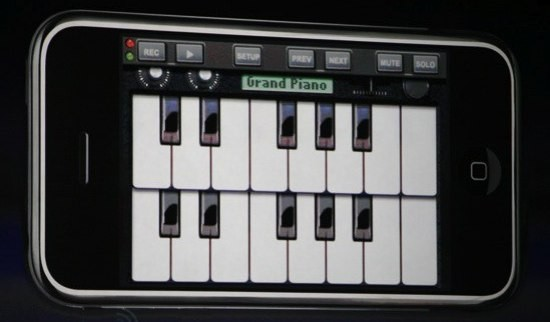 Piano multitouch iPhone