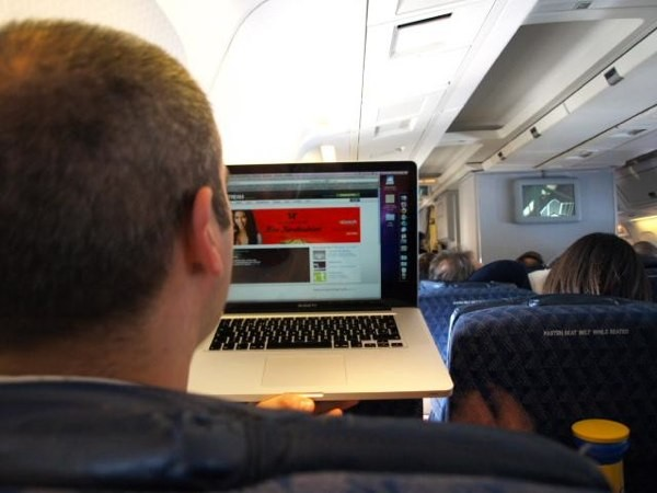 En directo desde el avión