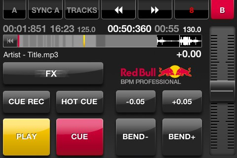 Red Bull BPM Pro y DJ Player