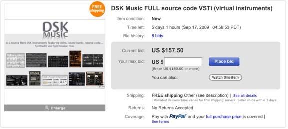 DSK Music subasta