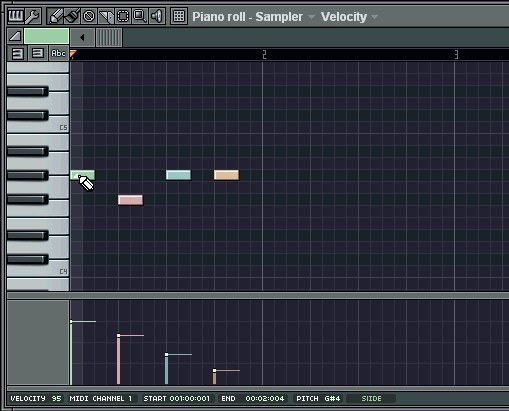 Ventana Piano FL Studio
