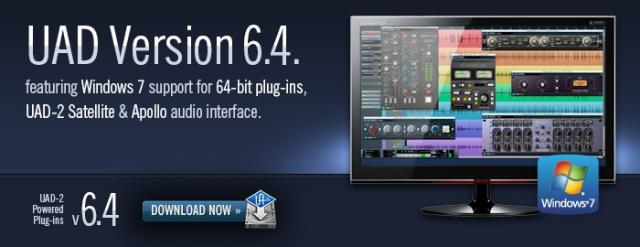 UAD 6.4 con soporte 64-bit