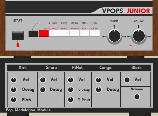V-Pops - Korg Minipops Junior