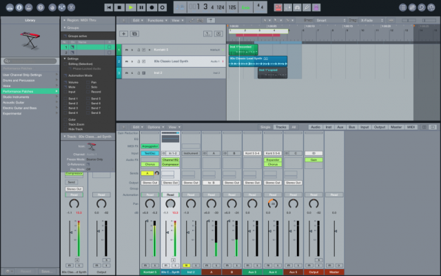 Logic Pro X con skin de Ableton Live