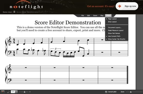Noteflight Crescendo