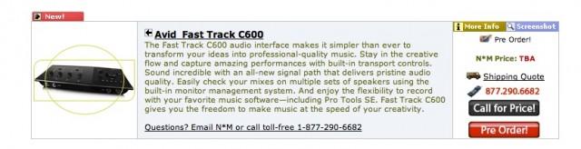 Avid Fast Track C600