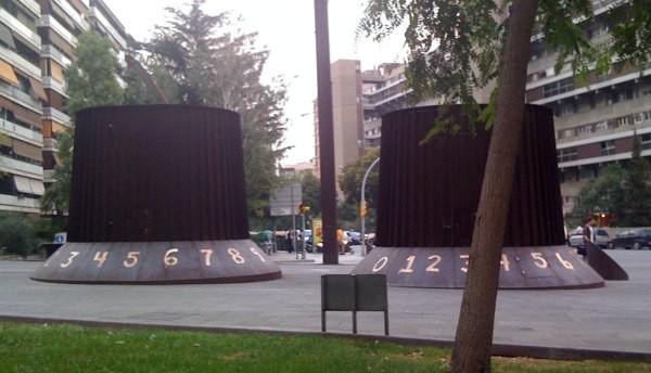 Potenciómetros gigantes en Barcelona