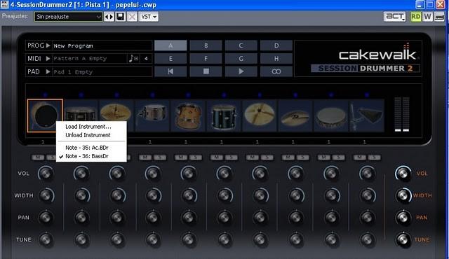 Cómo usar Audiosnap en Cakewalk SONAR: sustitución de