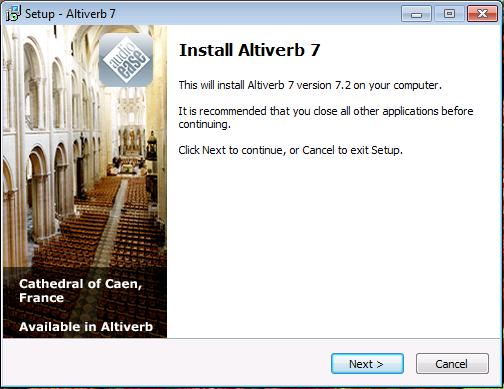 Altiverb 7 en Windows