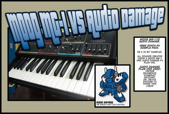 Moog MG1 vs Audio Damage