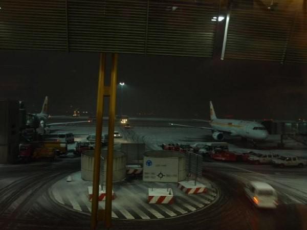 Nevando en Barajas