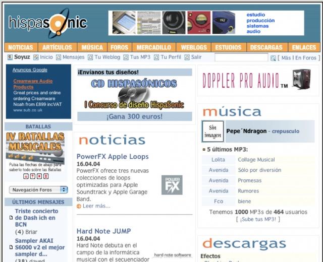Hispasonic en 2004