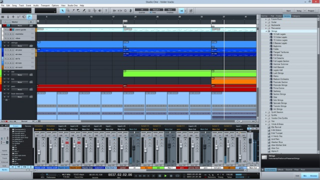 Studio One 2.5 - Folder Tracks