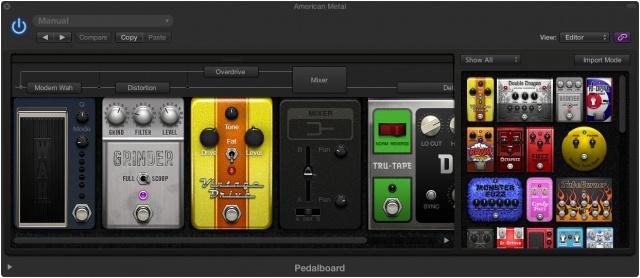 Pedalboard de Logic Pro X
