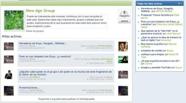 Grupos de charla en Hispasonicos.com