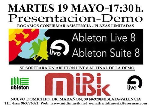 Demo Ableton Live en Valencia