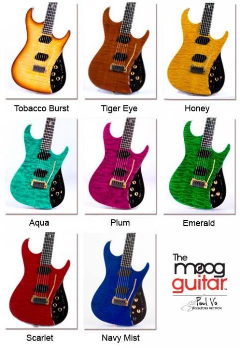 Acabados Moog Guitar