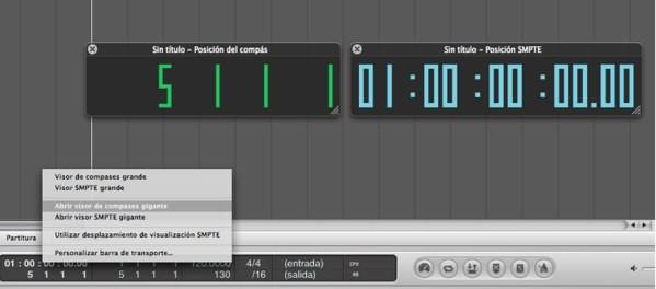 Visor SMPTE Logic Pro