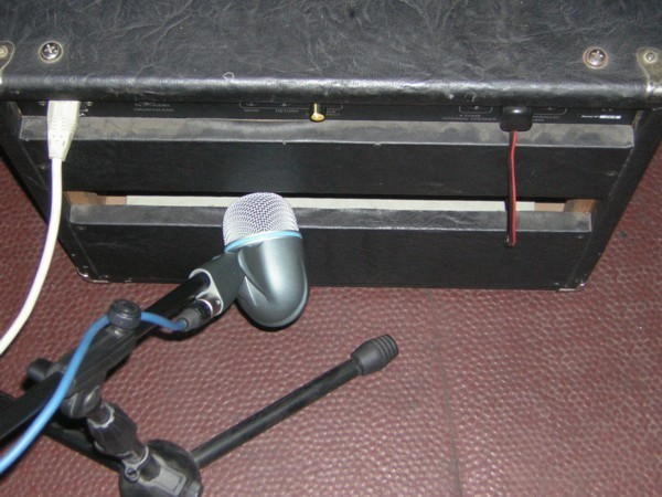 Micrófono por detrás