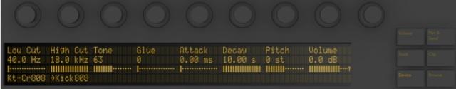 Display/Encoder Ableton Push