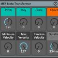 Note Transformer, un dispositivo gratuito para corrección de notas en Ableton Live