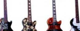 Subastan 12 guitarras pintadas por artistas a beneficio