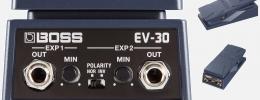 Boss EV-30, un pedal de expresión doble con polaridad ajustable