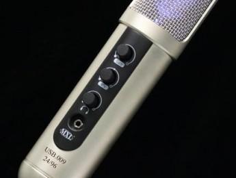 Micrófono de condensador MXL USB.009 a 24 bit y 96 kHz